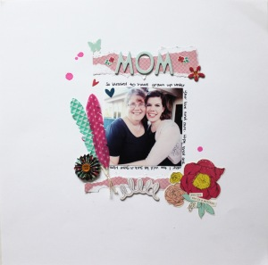 Mom and Me Layout