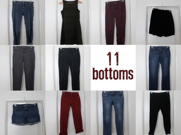 Capsule Wardrobe Bottoms